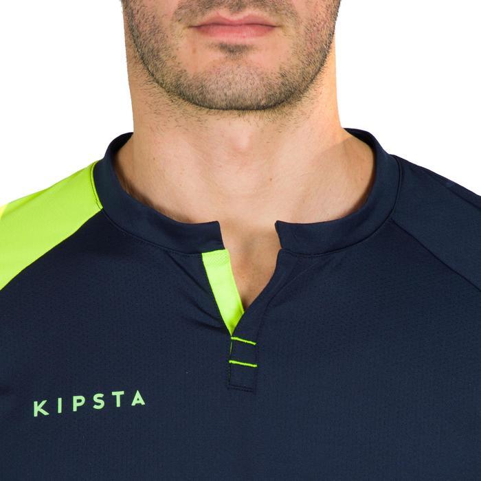 Camiseta Hockey Hierba Kipsta FH500 Hombre Azul Amarillo
