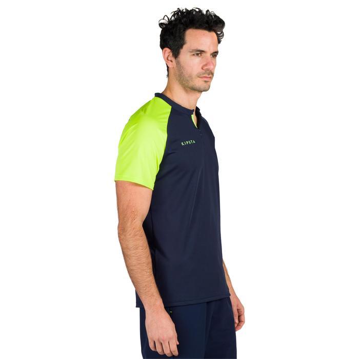 Herenshirt voor veldhockey FH500 blauw/geel