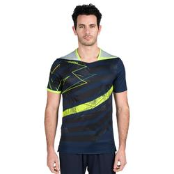 Camiseta de balonmano hombre H500 azul marino / amarillo