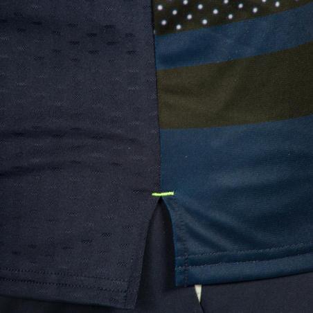 Maillot de handball homme H500 bleu marine / jaune