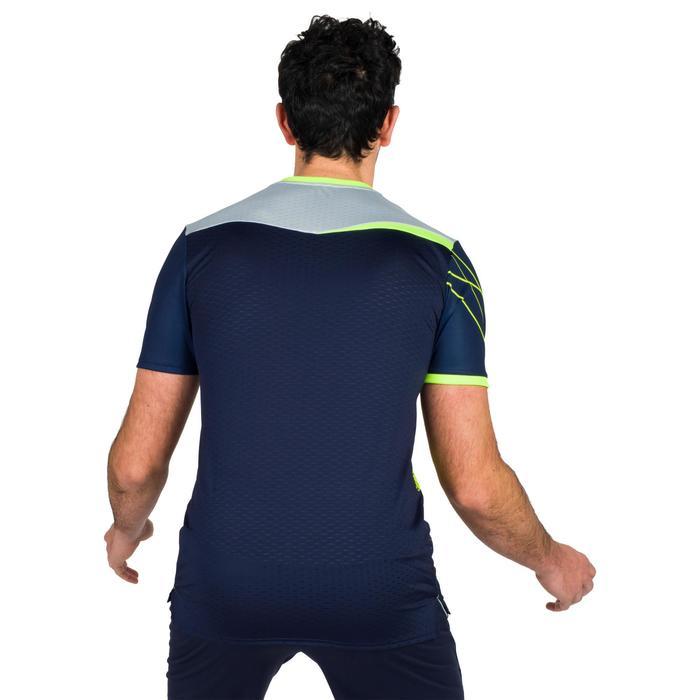 Camiseta de Balonmano Atorka H500 Hombre Azul Amarillo