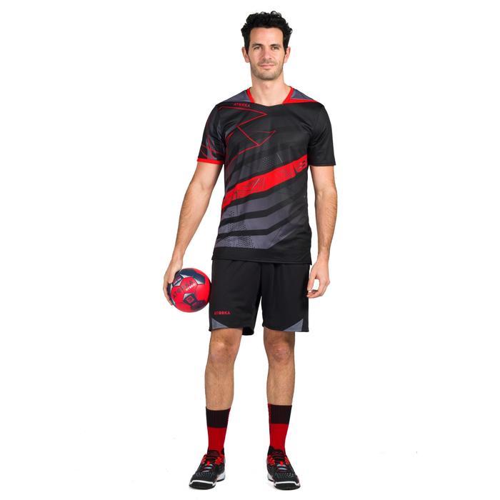 Handballtrikot H500 Herren schwarz/rot