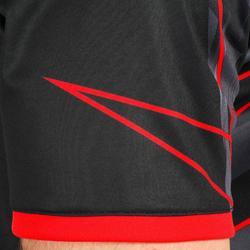 Camiseta H500 de balonmano Negro y Rojo