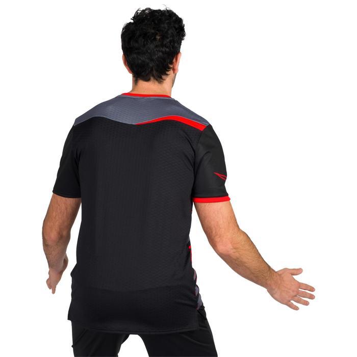 Camiseta de Balonmano Atorka H500 Hombre Negro Rojo
