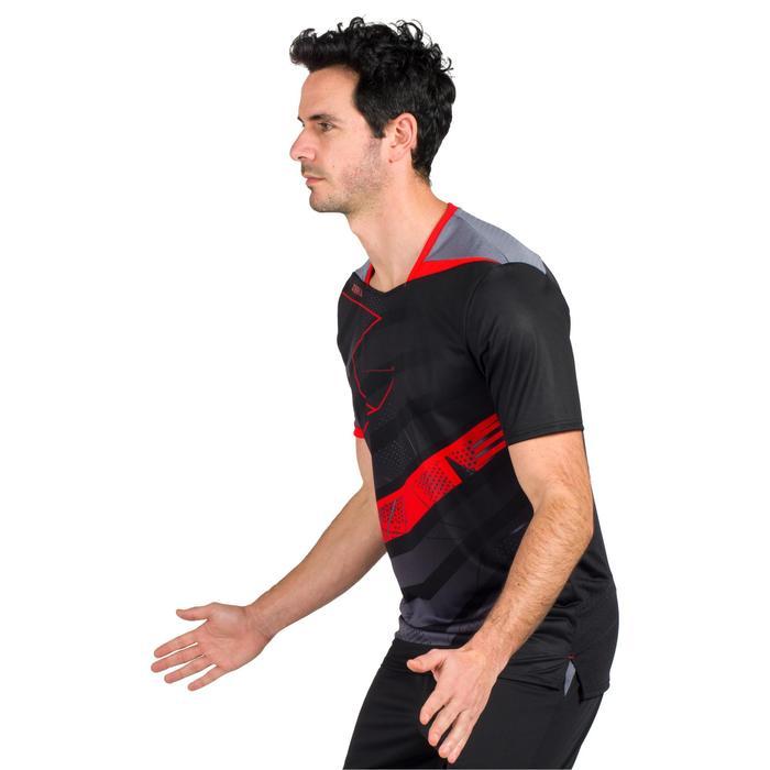 Camiseta de balonmano hombre H500 negro / rojo