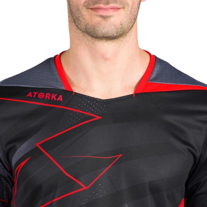 Maillot de handball homme H500 noir / rouge