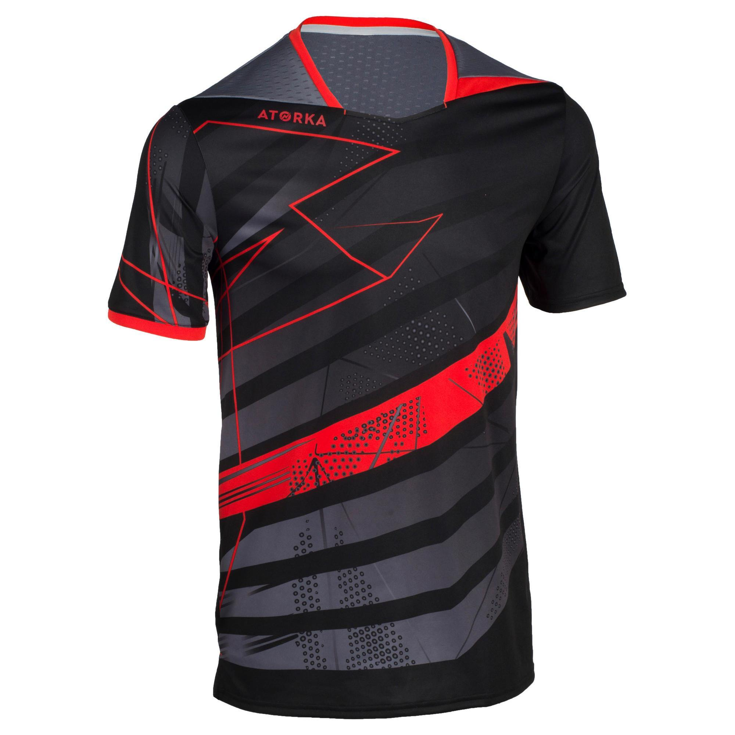 Handballtrikot H500 Herren schwarz/rot | Sportbekleidung > Trikots > Handballtrikots | Atorka