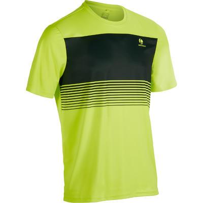 חולצת טי לטניס דגם Soft 100 - צהוב ניאון