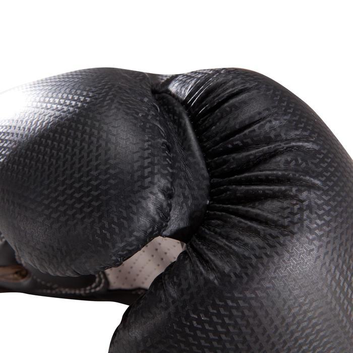 Gants de boxe 500  noir/orange, gants pour boxeur confirmés homme et femme - 1320821