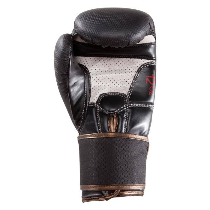 Gants de boxe 500  noir/orange, gants pour boxeur confirmés homme et femme - 1320823