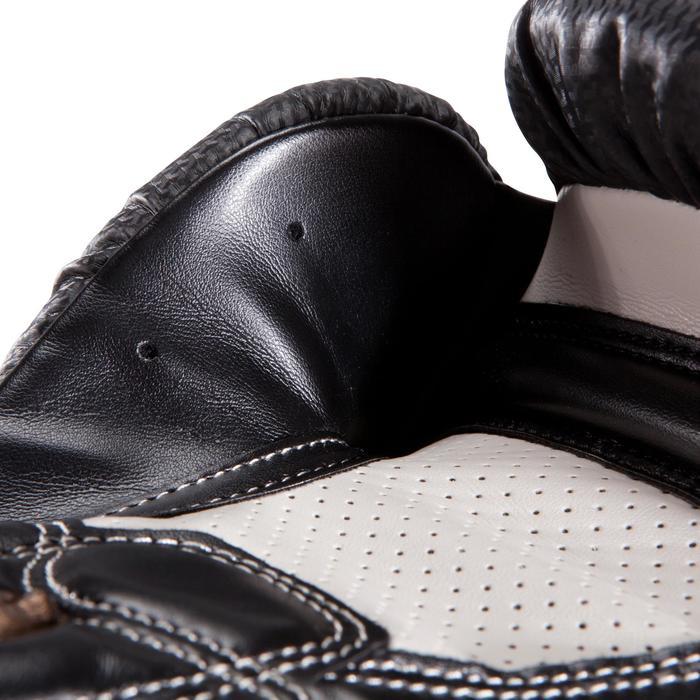 Gants de boxe 500  noir/orange, gants pour boxeur confirmés homme et femme - 1320825