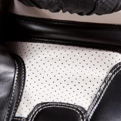 Bokshandschoenen 500 zwart voor halfgevorderde boksers heren en dames