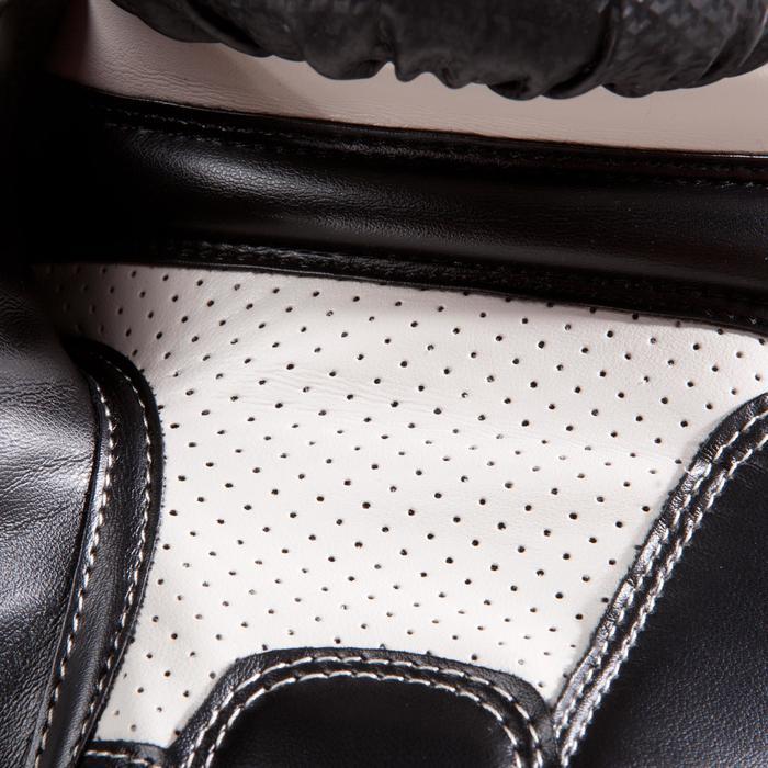 Gants de boxe 500  noir/orange, gants pour boxeur confirmés homme et femme - 1320826
