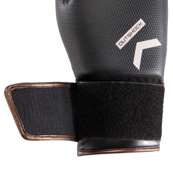 Gants de boxe 500  noir/orange, gants pour boxeur confirmés homme et femme - 1320828