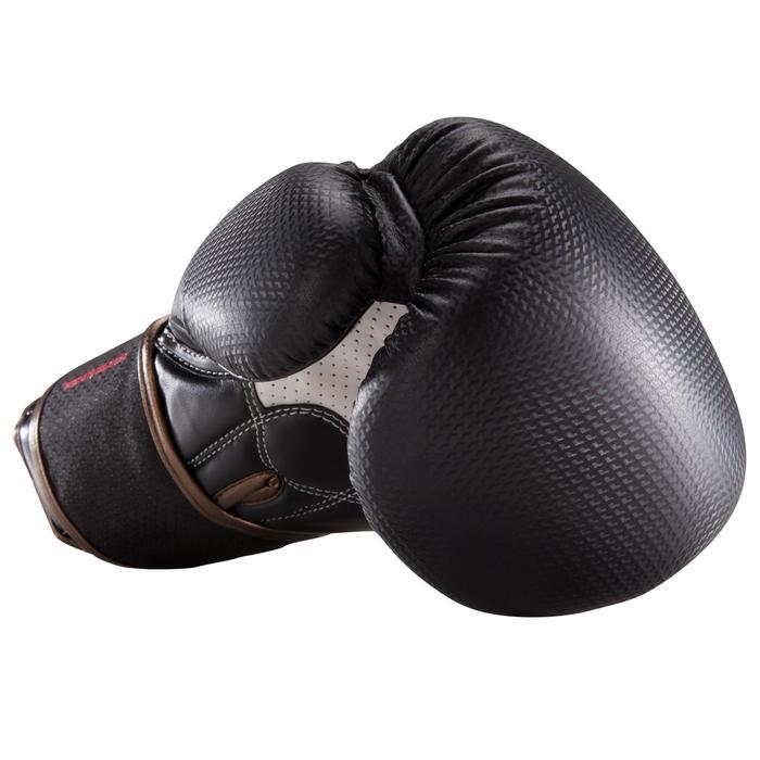 Gants de boxe 500  noir/orange, gants pour boxeur confirmés homme et femme - 1320829