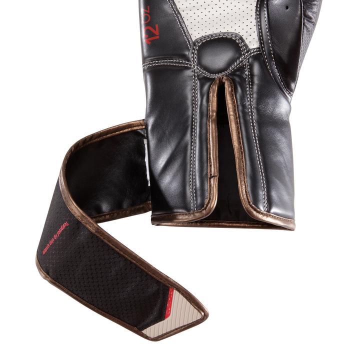 Gants de boxe 500  noir/orange, gants pour boxeur confirmés homme et femme - 1320832