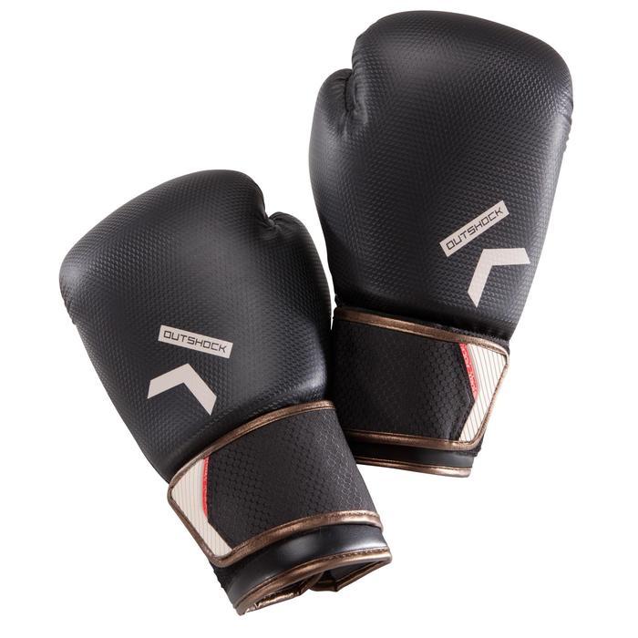 Gants de boxe 500  noir/orange, gants pour boxeur confirmés homme et femme - 1320833