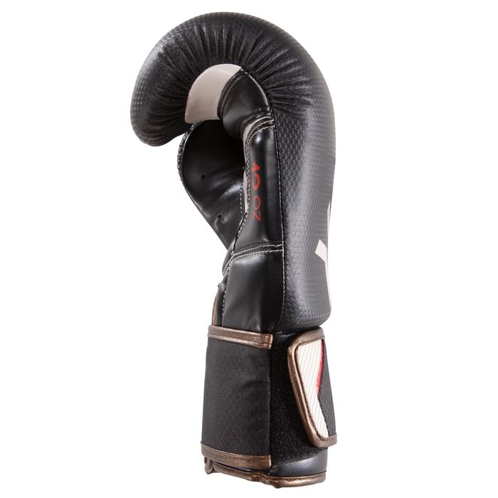 Gants de boxe 500  noir/orange, gants pour boxeur confirmés homme et femme - 1320834