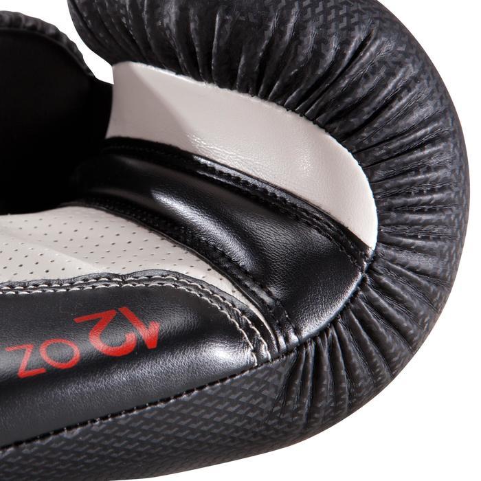 Gants de boxe 500  noir/orange, gants pour boxeur confirmés homme et femme - 1320835