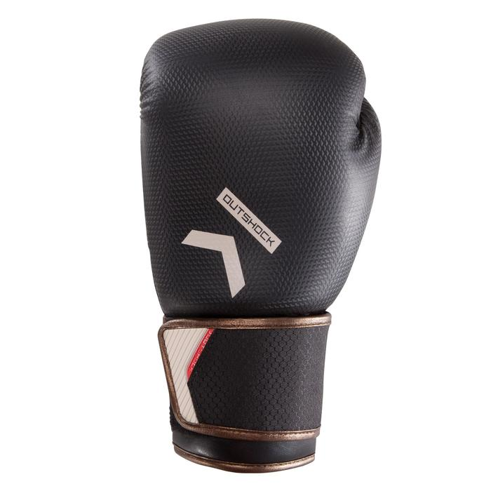 Gants de boxe 500  noir/orange, gants pour boxeur confirmés homme et femme - 1320836