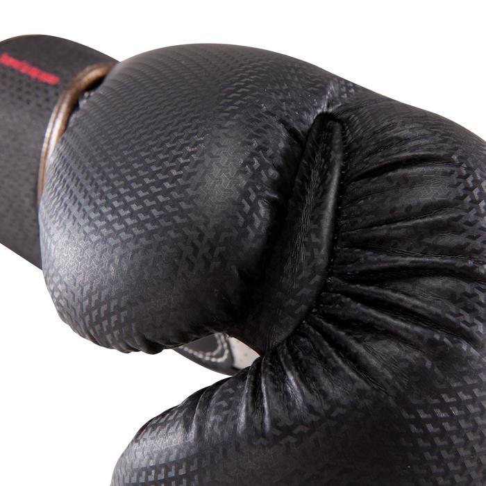 Gants de boxe 500  noir/orange, gants pour boxeur confirmés homme et femme - 1320837