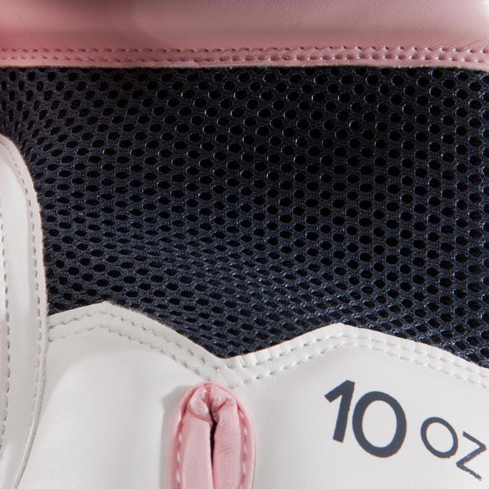 gants de boxe 300 blancs , gants d'entraînement débutant homme ou femme - 1320844