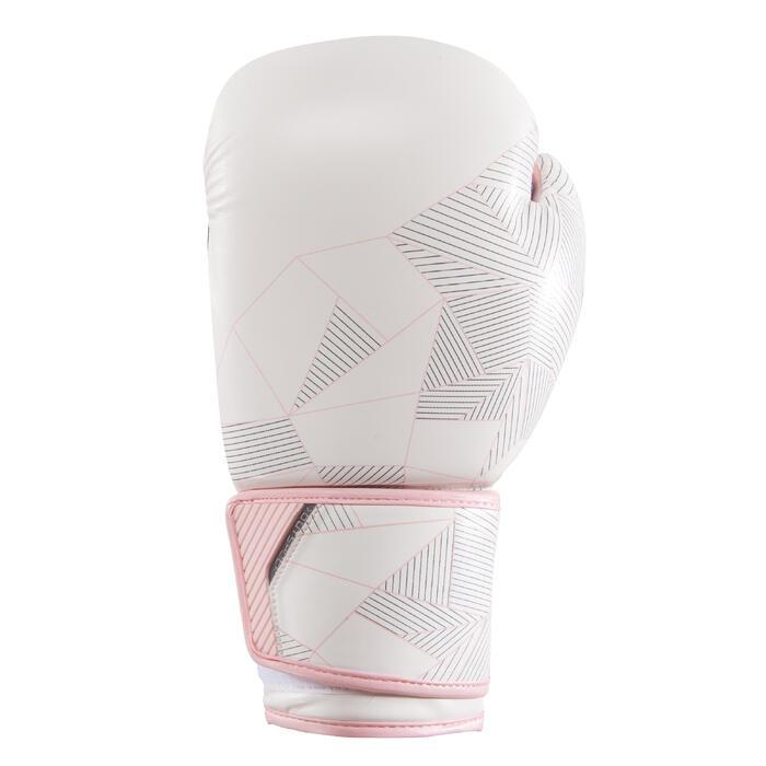 gants de boxe 300 blancs , gants d'entraînement débutant homme ou femme - 1320845