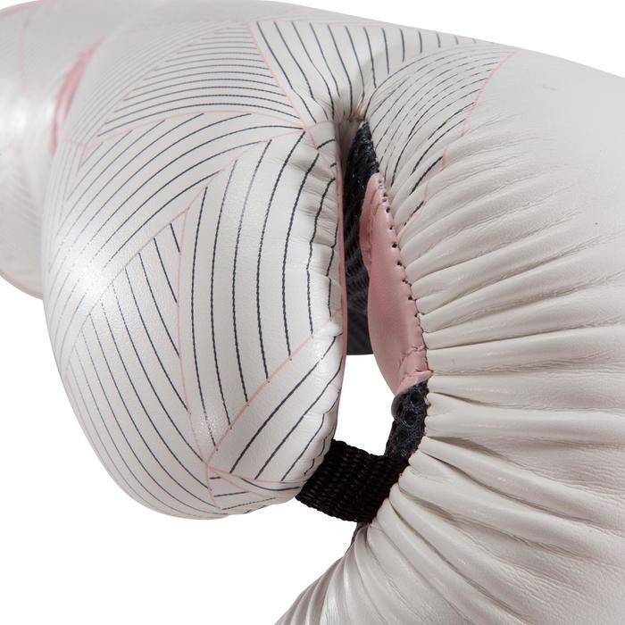 gants de boxe 300 blancs , gants d'entraînement débutant homme ou femme - 1320850