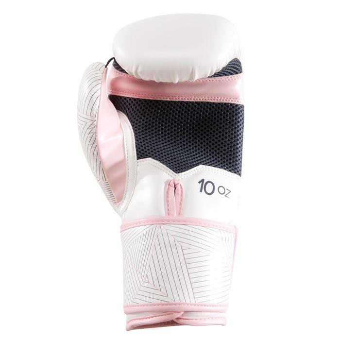 gants de boxe 300 blancs , gants d'entraînement débutant homme ou femme - 1320856