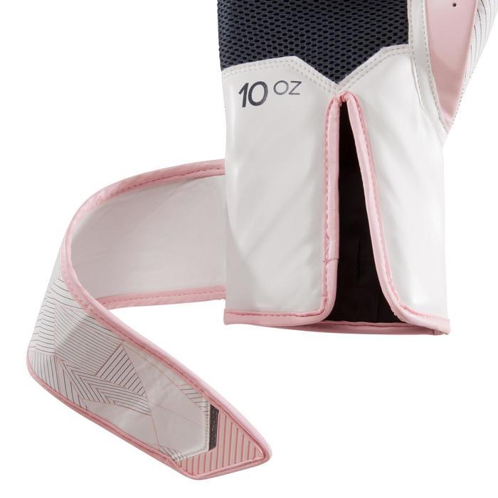 gants de boxe 300 blancs , gants d'entraînement débutant homme ou femme - 1320857