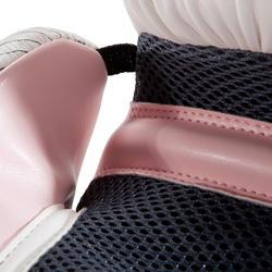 300 Beginner Adult Boxing Training Gloves - White/Pink