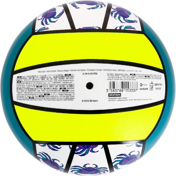 Balón de voley playa BV100 amarillo y verde