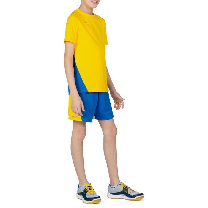 Volleybalshirt V100 voor jongens geel en blauw