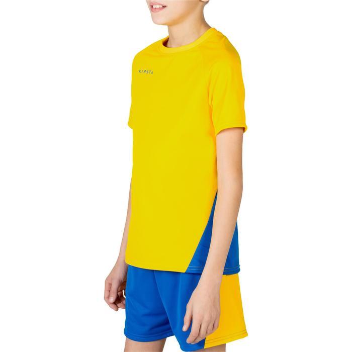 Camiseta de voleibol niño V100 amarillo y azul