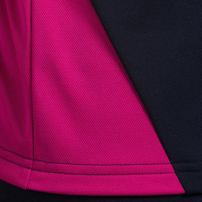 V100 volleybalshirt meisjes blauw en roze