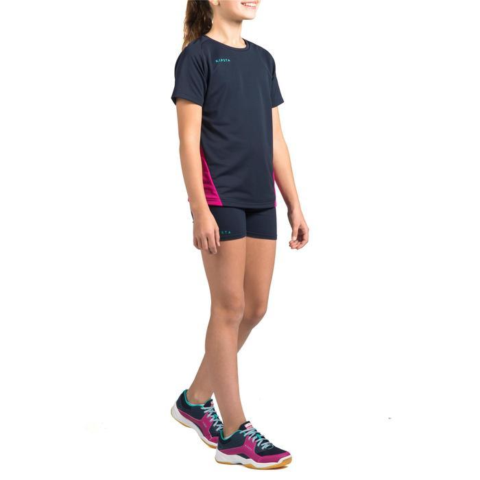 Maillot de volley-ball fille V100 bleu et - 1320933