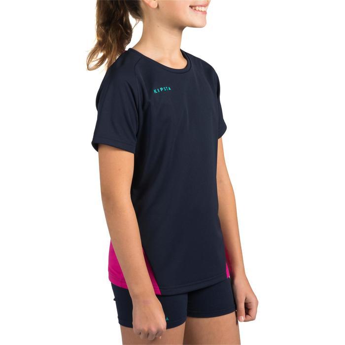 Maillot de volley-ball fille V100 bleu et - 1320936