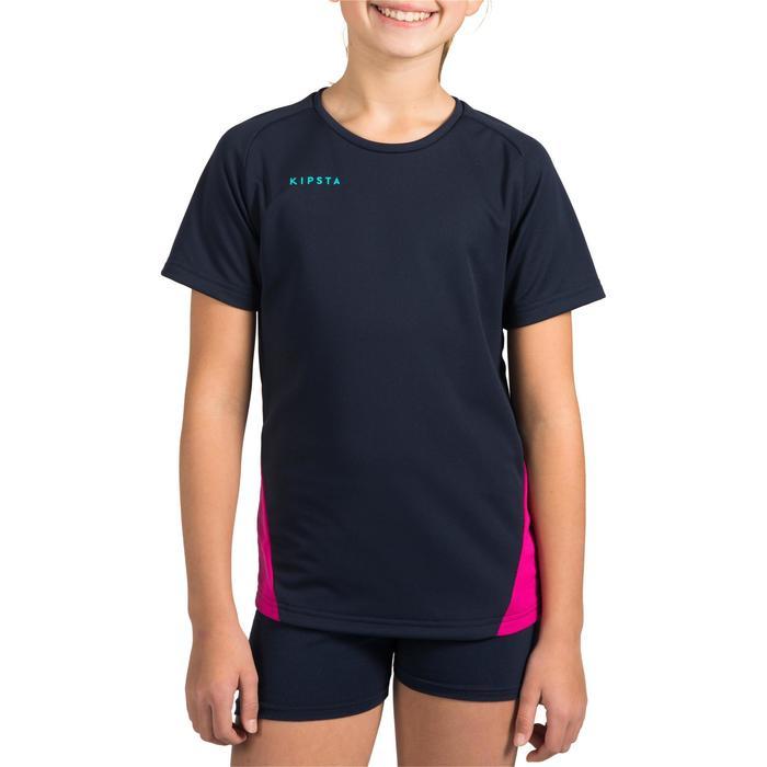Maillot de volley-ball fille V100 bleu et - 1320937