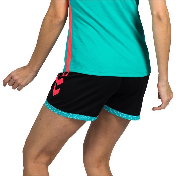 Short de Handball adulte Hummel de couleur menthol et blanc - 1320962