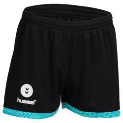 Handbalshort voor dames zwart / turquoise