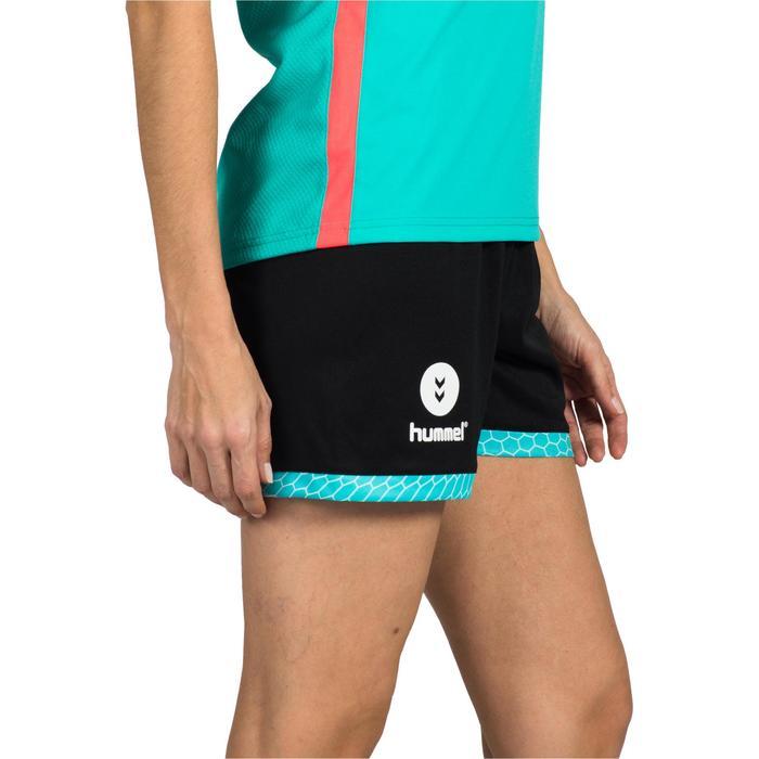 Short de Handball adulte Hummel de couleur menthol et blanc - 1320966