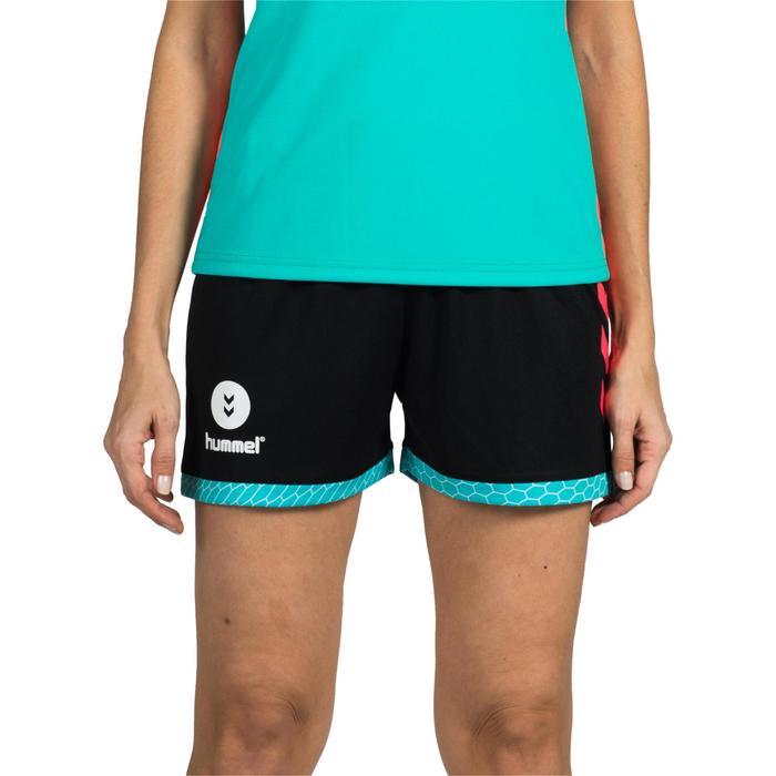 Short de Handball adulte Hummel de couleur menthol et blanc - 1320967