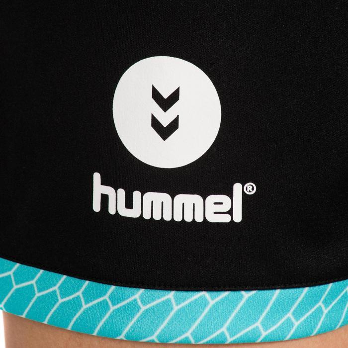 Short de Handball adulte Hummel de couleur menthol et blanc - 1320968