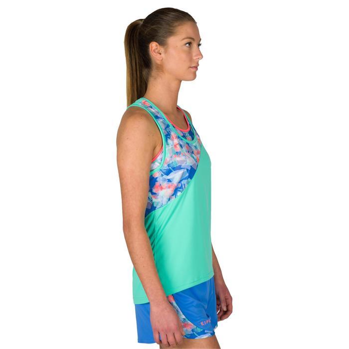 Camiseta sin mangas de vóley playa para mujer BV 500 verde