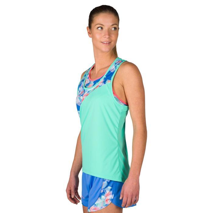 Camiseta Tirantes Vóley Playa Copaya BV500 Verde Mujer