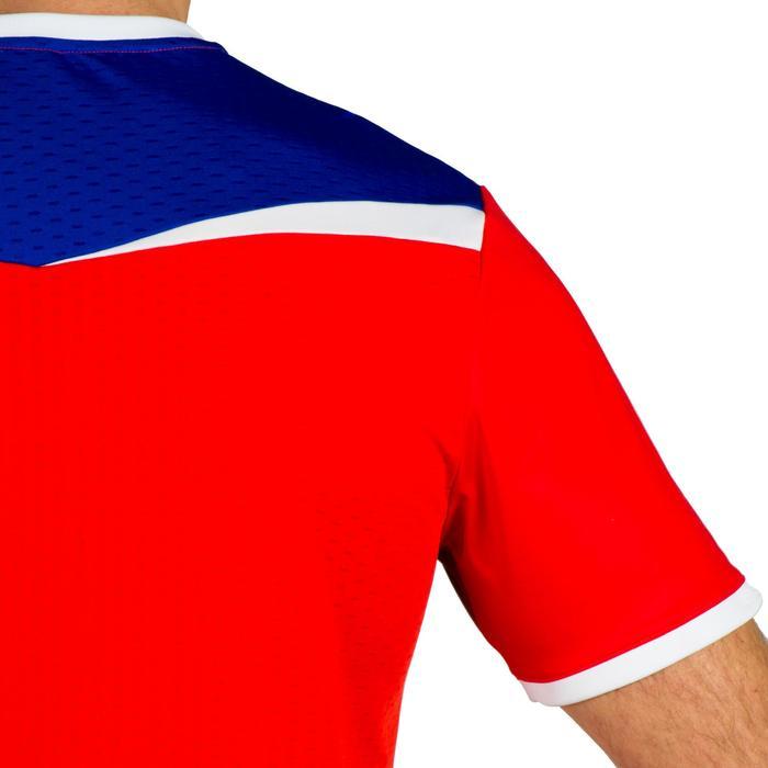 Camiseta de Balonmano Atorka H500 Hombre Azul Rojo