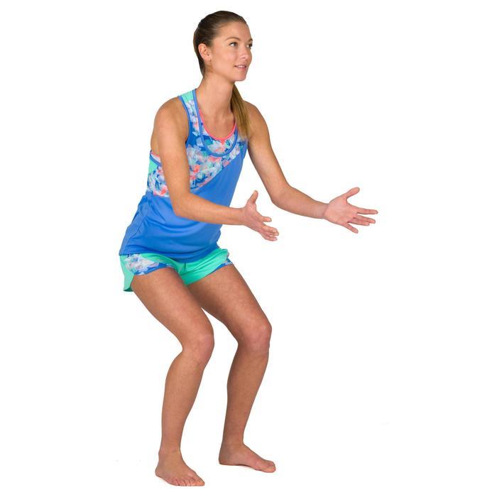 Camiseta Tirantes Vóley Playa Copaya BV500 Azul Mujer