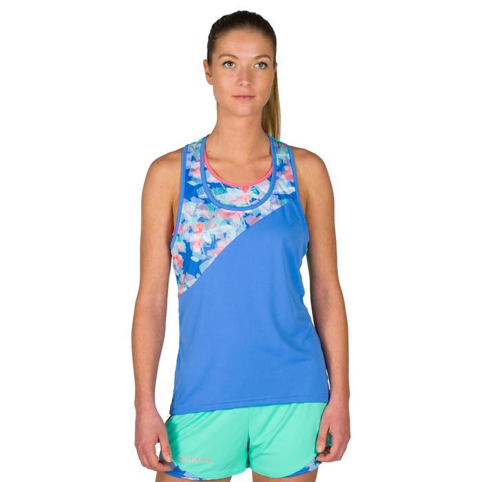 Débardeur de beach-volley femme BV 500 bleu
