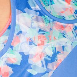 Camiseta sin mangas de vóley playa para mujer BV 500 azul