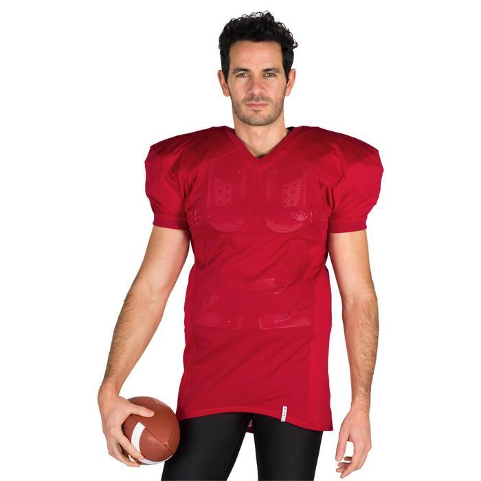Camiseta de fútbol americano AF 550 para adultos rojo